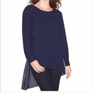 White House Black Market Asymmetrical tunic blouse